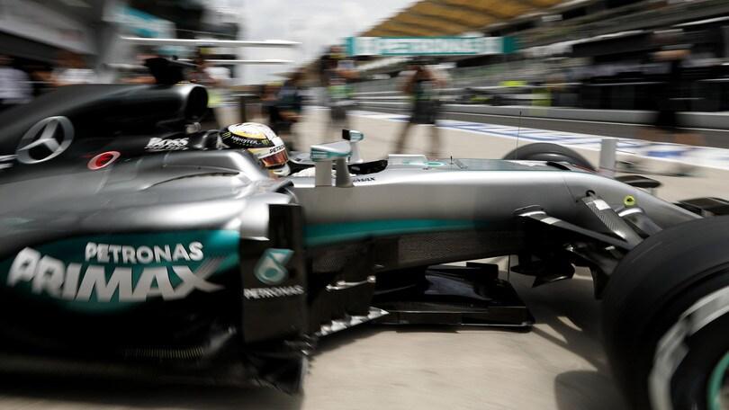 F1 Malesia: a Hamilton le terze libere, Vettel quinto