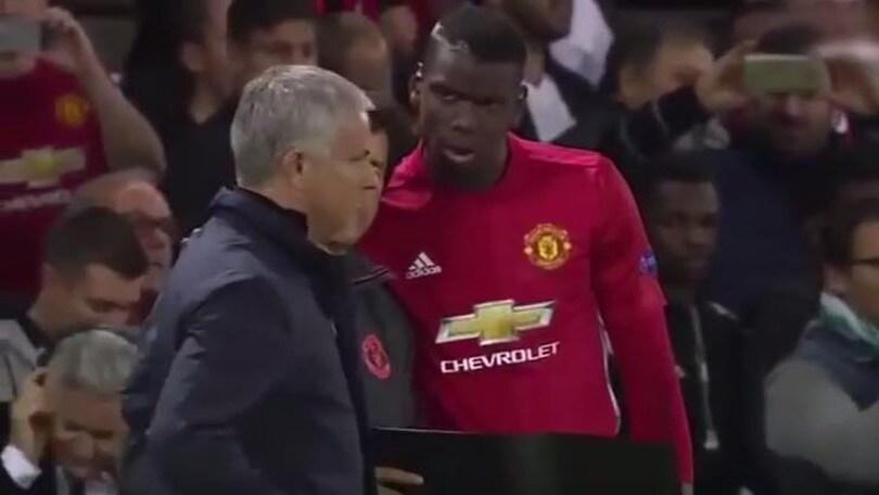 Mourinho, che lite con il vice per Pogba