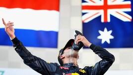 Gp Malesia, festa Ricciardo: il brindisi è con la scarpa
