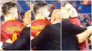 La Roma vince e Spalletti esulta: corre ad abbracciare Manolas!