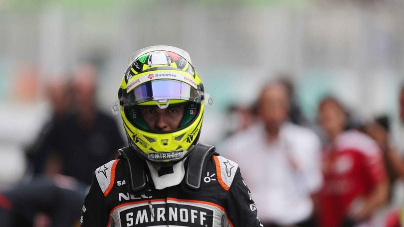 F1, Perez conferma: «Alla Force India anche nel 2017»