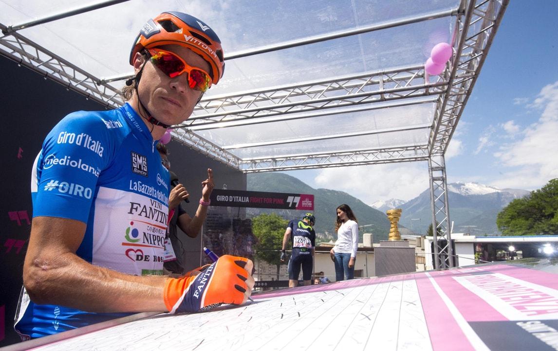 Damiano Cunego prova il tracciato della Granfondo Campagnolo
