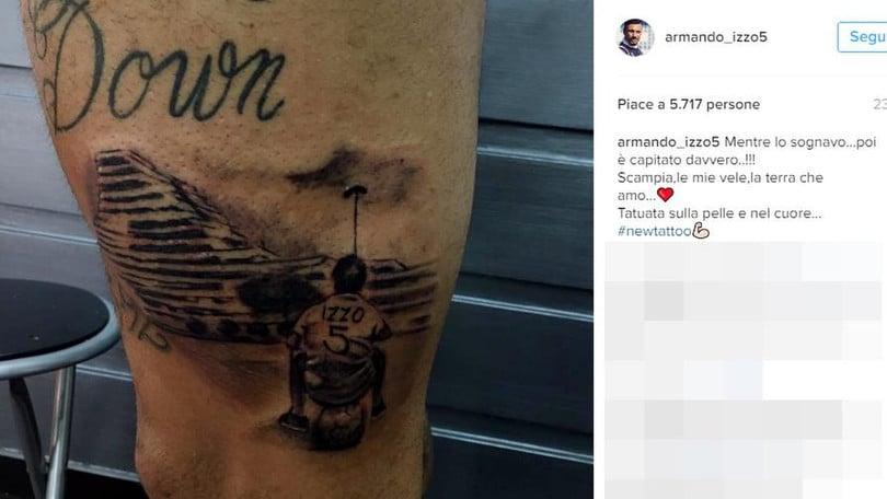 Serie A, Armando Izzo si tatua le vele di Scampia