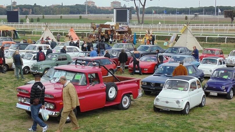 A Capannelle la grande mostra scambio di auto d'epoca