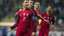 Portogallo-Andorra 6-0, Cristiano Ronaldo show: che poker!