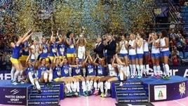 Volley: A1 Femminile, la sfida fra le stelle la vince la squadra blu