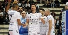 Volley: A2 Maschile, nel primo lunch match Siena travolge il Club Italia