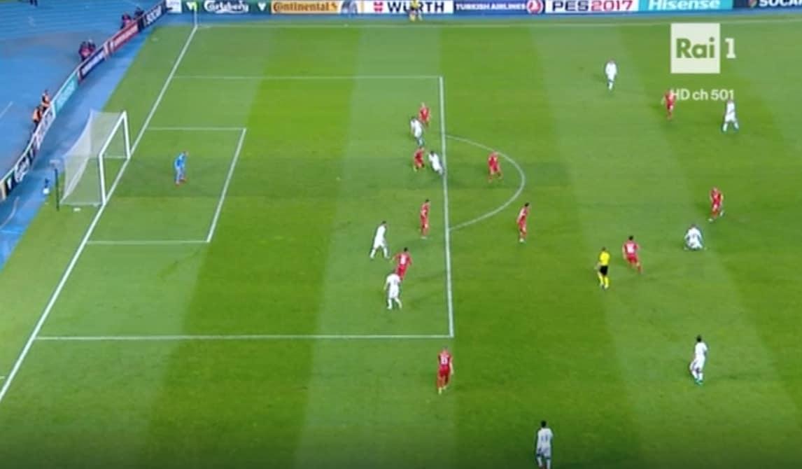 Macedonia-Italia Parolo, gol ingiustamente annullato: era in gioco