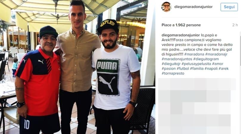 Napoli, Maradona jr: «Milik? Papà gli ha detto di fare più gol di Higuain»