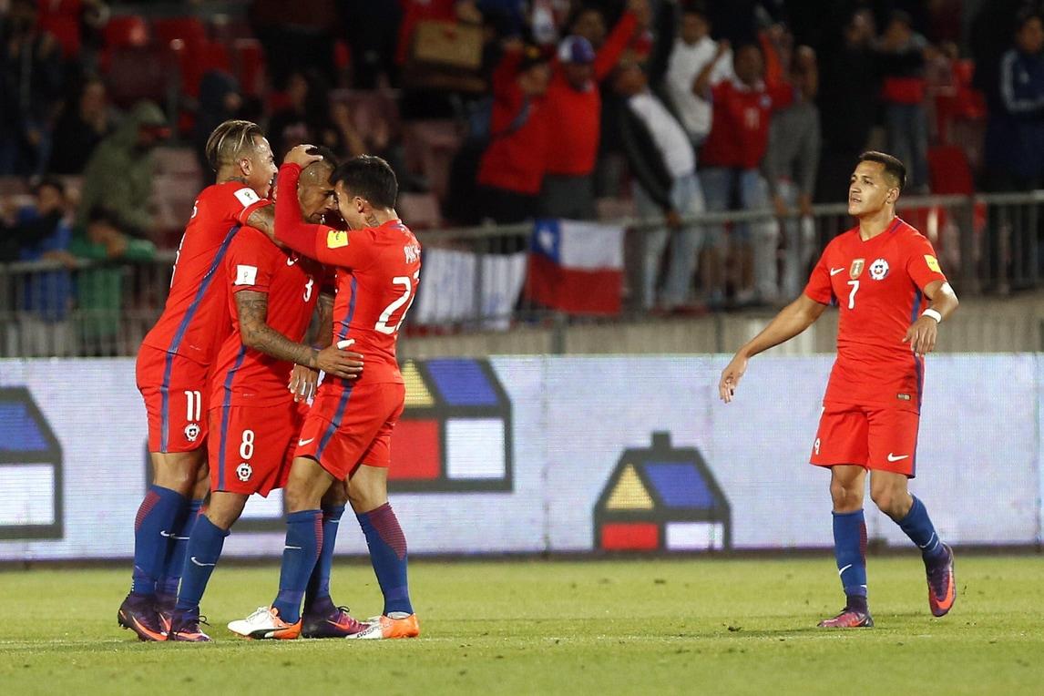 Qualificazioni Mondiali: Vidal trascina il Cile, il Brasile batte il Venezuela, pari Uruguay