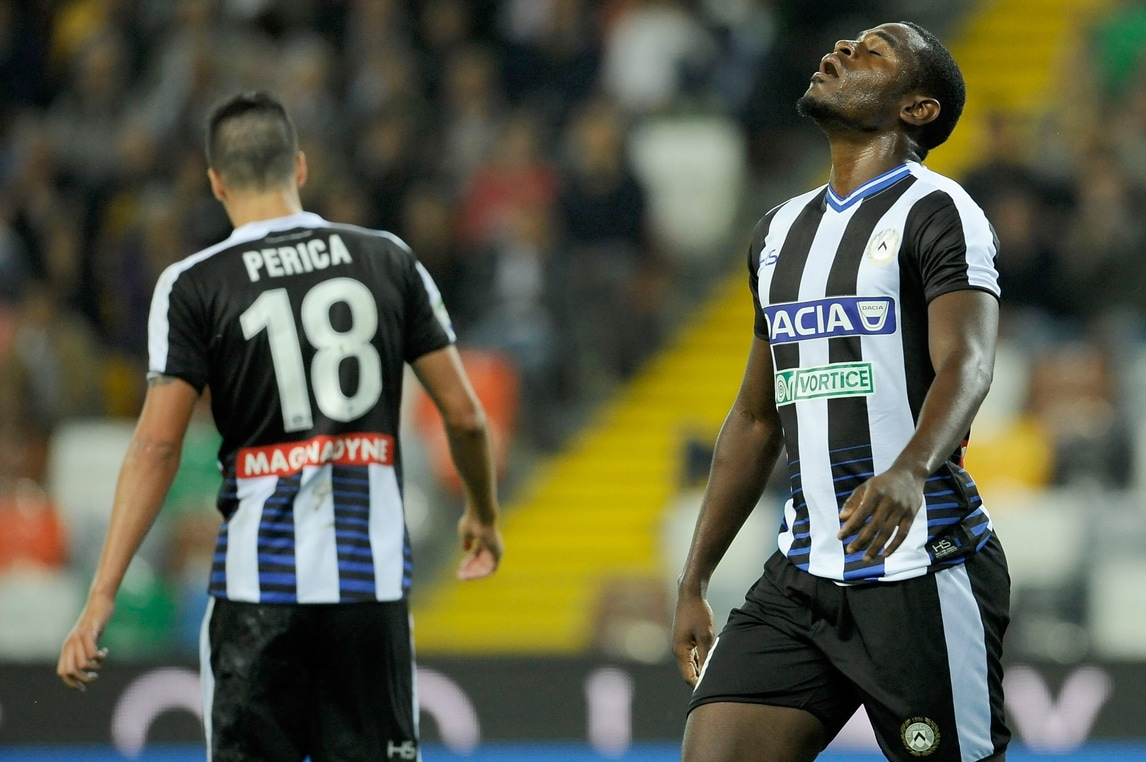 Serie A Udinese, Badu stop: gastroenterite