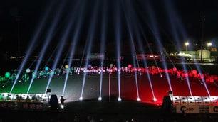 Matelica, gioco di luci e colori: ecco l'inaugurazione che ha impressionato Malagò