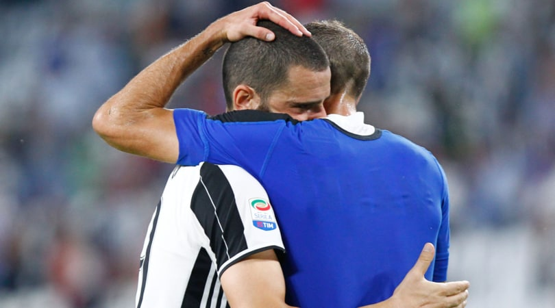Juventus, si ferma ancora Chiellini: al suo posto convocato Bonucci
