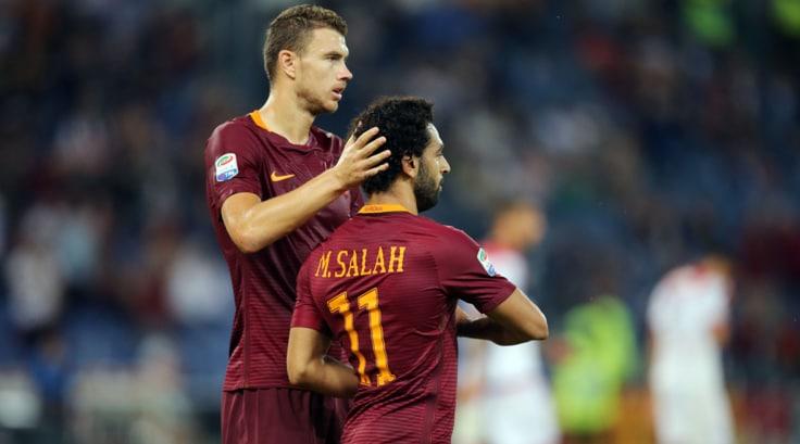 Roma, Dzeko-Salah primi al gioco delle coppie