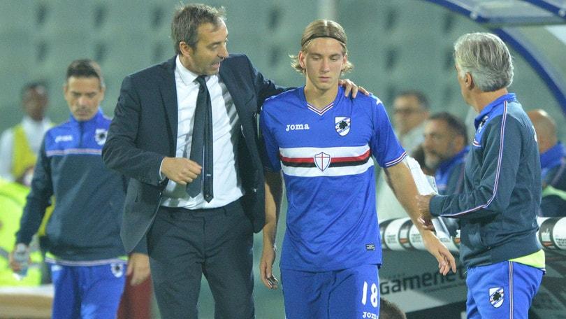Serie A Sampdoria, contusione alla schiena per Praet