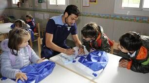 La Lazio regala una giornata di gioia ai bambini e al popolo di Amatrice