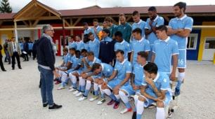 La Lazio in posa per la foto ufficiale ad Amatrice