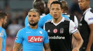 Champions League: Napoli-Besiktas 2-3, le immagini della sconfitta azzurra