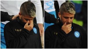 Napoli ko, le lacrime di Insigne