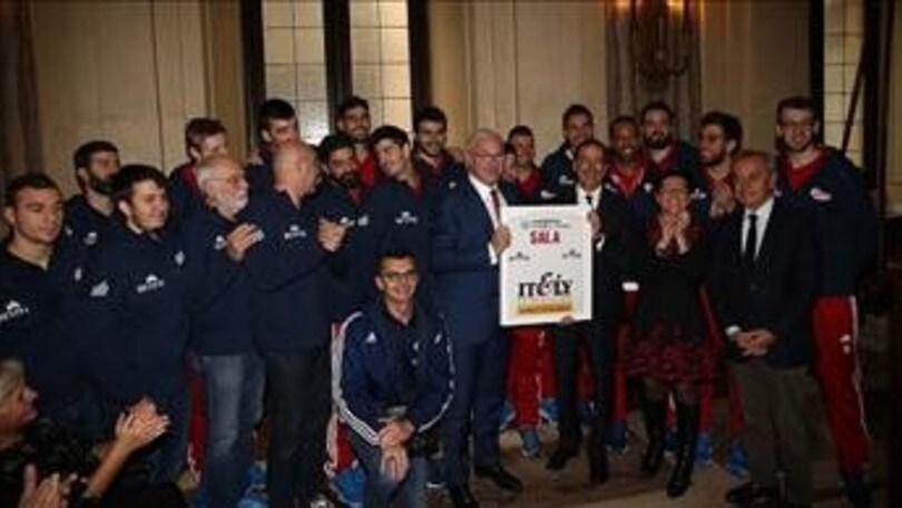 Volley: Superlega, la Revivre presentata in Comune con il Sindaco Sala