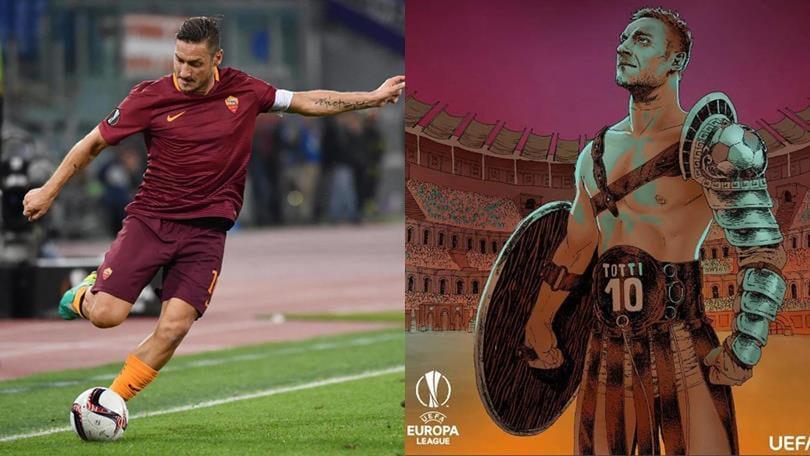 Europa League Roma: Totti, 100 partite in Europa. L'Uefa: «Bravo gladiatore»