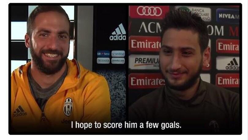 Serie A Milan-Juventus, Higuain-Donnarumma, che sfida sul web!