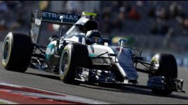 F1: le immagini della poleposition di Hamilton sul circuito di Austin
