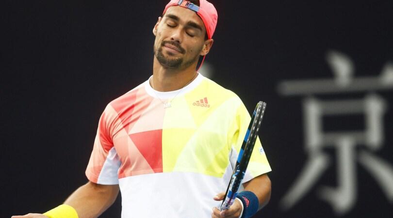 Tennis, Fognini fuori al primo turno all'Atp di Vienna