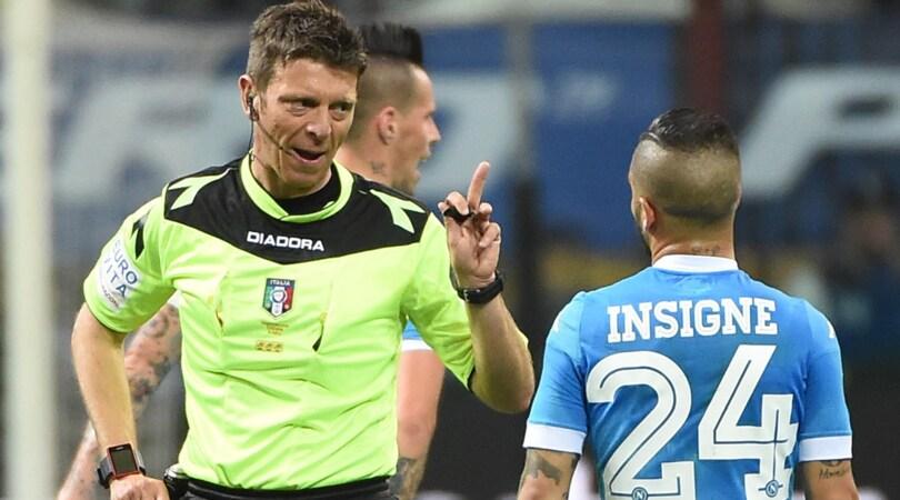 Juventus-Napoli, arbitra Rocchi. Per la Roma c'è Di Bello