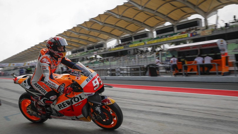 MotoGp Malesia: ultime libere a Marquez, Rossi è ottavo