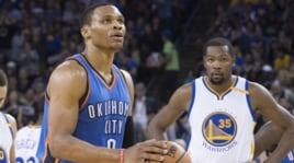 Basket NBA, Durant batte Westbrook: che sfida tra i due ex compagni