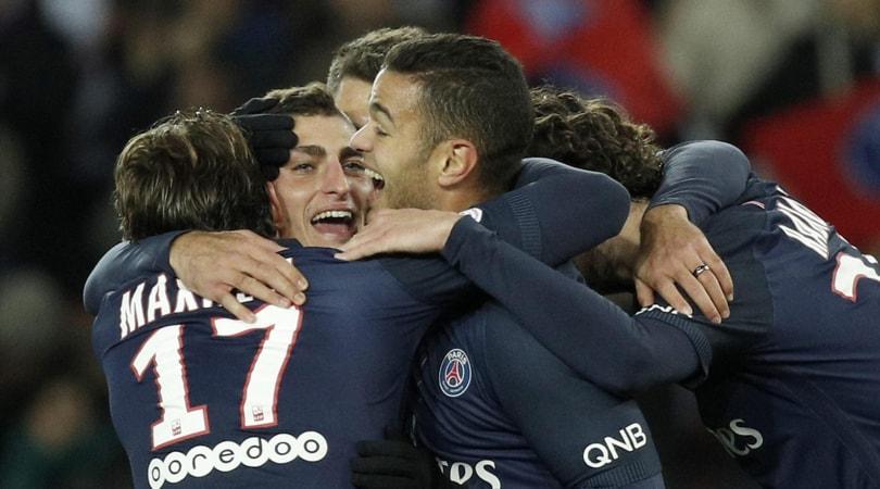 Ligue 1: Psg-Rennes 4-0, Verratti e Cavani per la festa parigina