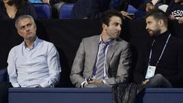 Tennis, Mourinho e Piqué insieme a Londra per vedere Djokovic