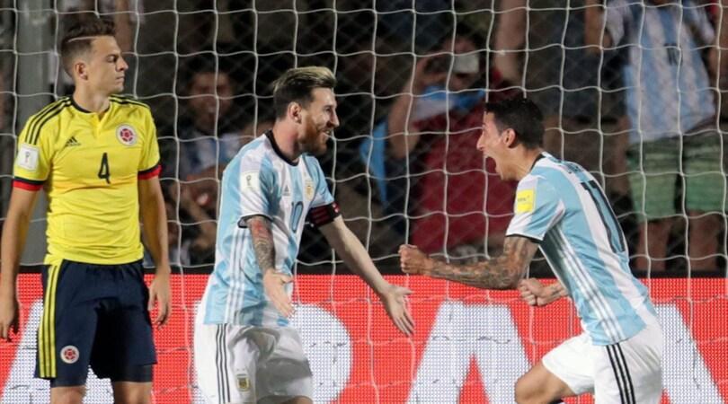 Qualificazioni Mondiali 2018. Magie di Messi, l'Argentina torna a vincere. Colombia ko 3-0