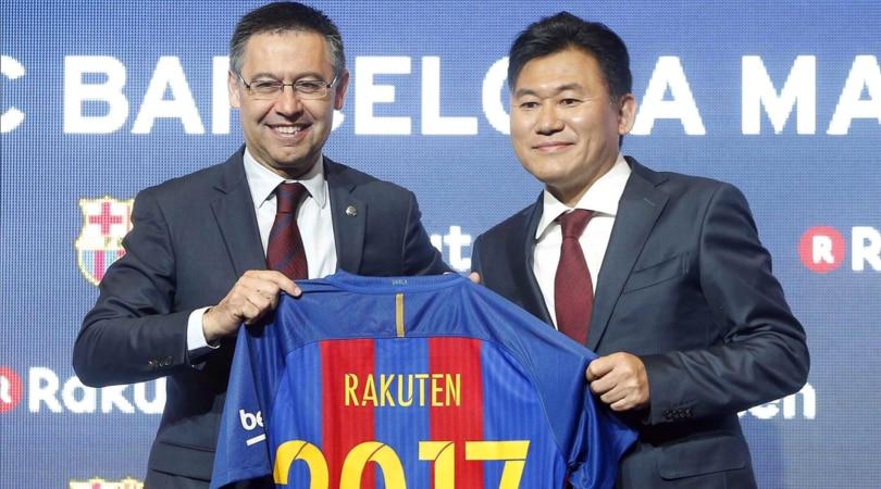 Rakuten nuovo sponsor del Barcellona: affare da 55 milioni all'anno