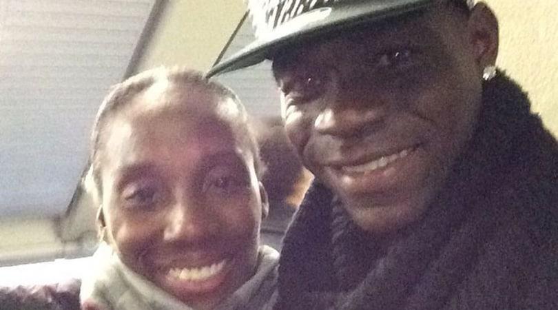 Fiona May, selfie con Balotelli: «Bad boy? No, è stato bello parlarci»