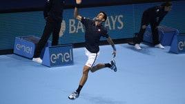 Tennis, Djokovic festeggia come Thor