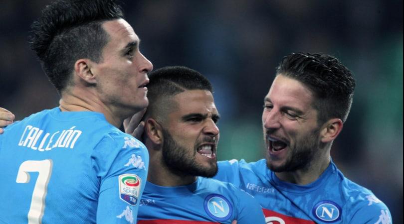 Udinese-Napoli 1-2: Insigne show, doppietta da tre punti