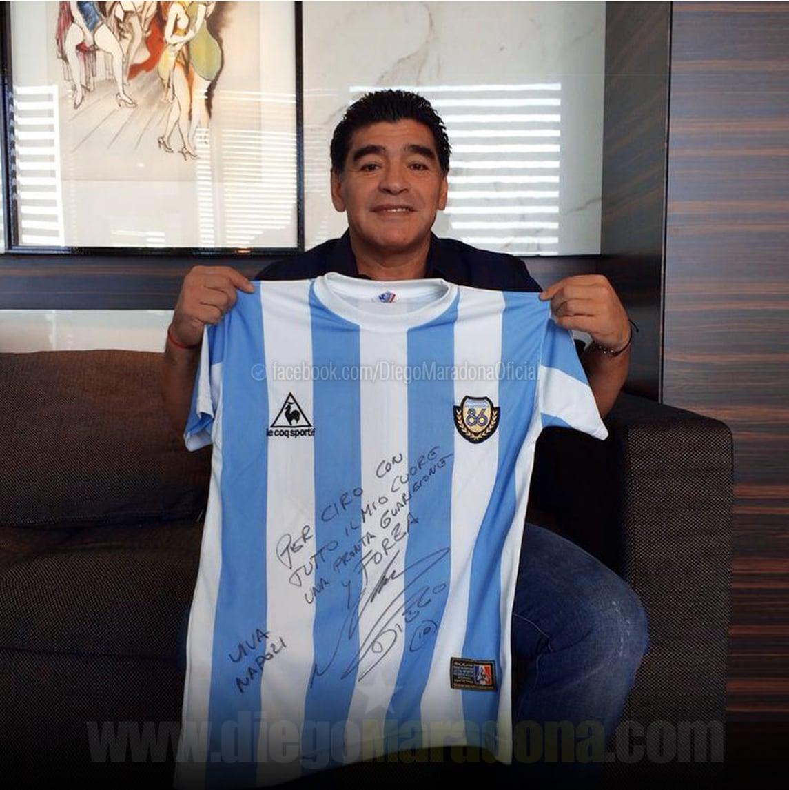 Ciro Esposito, il messaggio di Maradona: «Chi ama non dimentica»