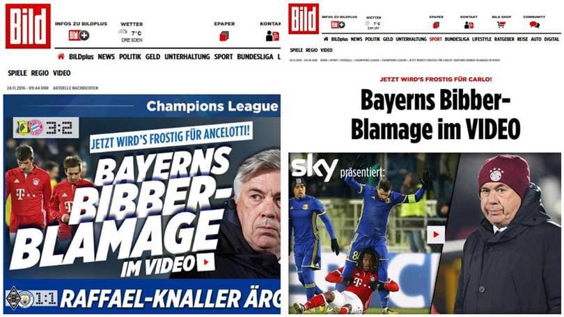 """Bayern Monaco, la """"Bild"""": «Tempi gelidi per Ancelotti»"""