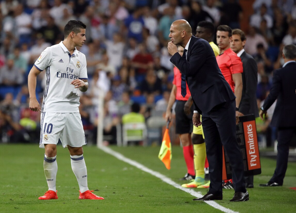 Calciomercato, Zidane 'stoppa' James:«Dovrebbe restare»