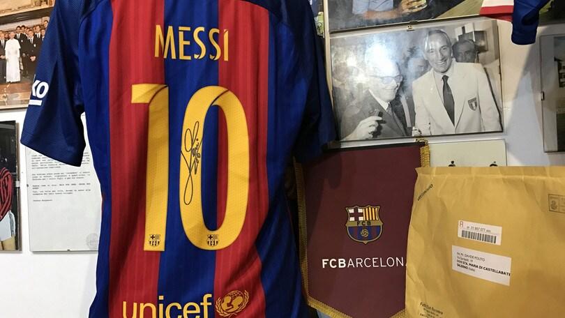 MessiLa Autografata Del Maglia Al Fortunato Museo Calcio Andrea xBEoerQdCW