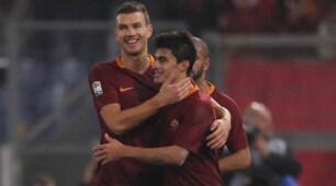 Serie A, doppio Dzeko e Perotti: la Roma vince 3-2 col Pescara