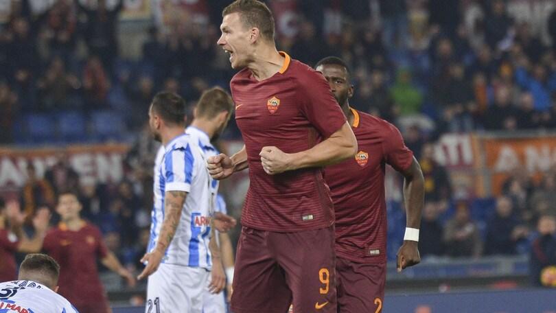 La Roma soffre ma vince: 3-2 contro un buon Pescara