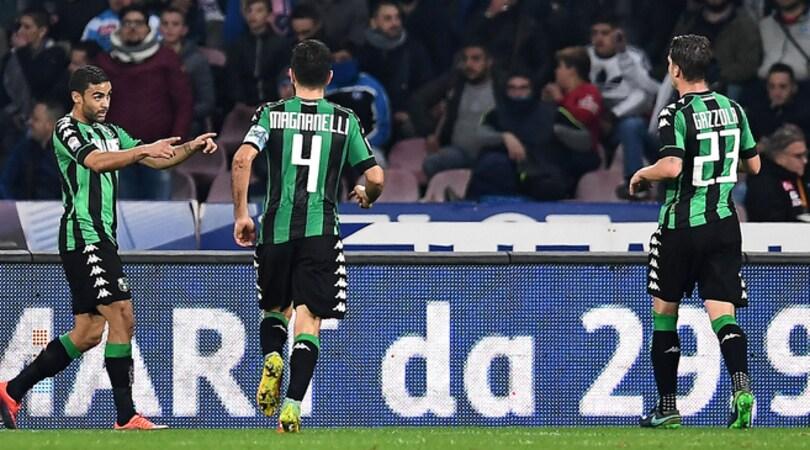 Serie A, Napoli-Sassuolo 1-1: la delusione si chiama Defrel