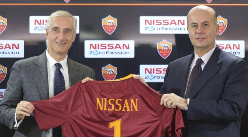 La Roma diventa green: partnership con Nissan