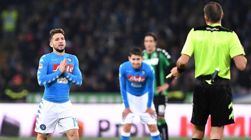 Serie A, Mertens salta l'Inter: tutte le decisioni del Giudice sportivo