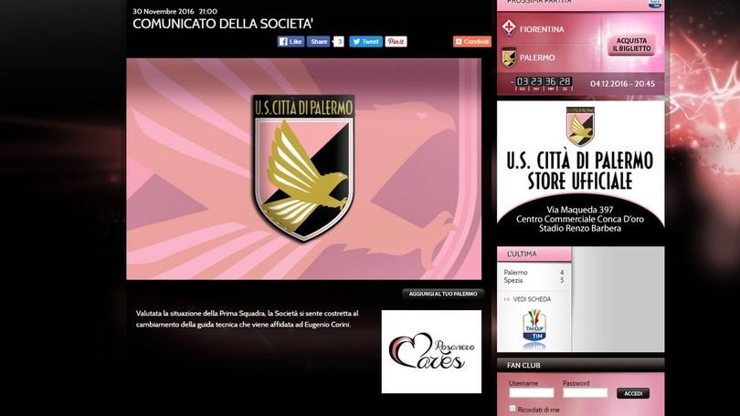 Palermo, ufficiale: c'è Corini. Zamparini: «De Zerbi tecnico penoso»