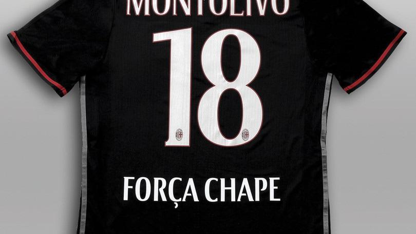Tragedia Chape, Milan in campo con una maglia speciale