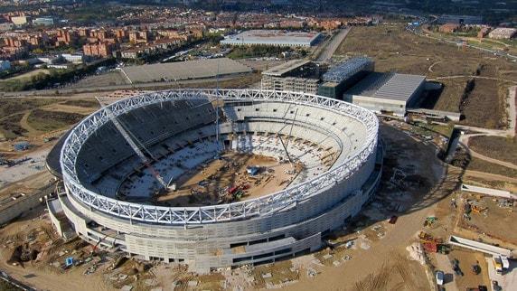 Stadio Atletico Madrid, proseguono i lavori nel nuovo impianto